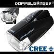 自転車 LED ライト 200ルーメン 防水 ホルダー USB CREE フロント ドッペルギャンガー ロードトレースセンサーライトプロ