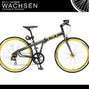 700C 折りたたみ クロスバイク アルミフレーム シマノ7段変速 自転車 WACHSEN ヴァクセン br-77f