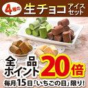【送料無料】4種の生チョコアイスクリームセット (短冊のし) ギフト