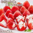 アイス ギフト 【 送料無料 】お花のようないちごアイス&苺アイスクリームセット (短冊のし) 内祝
