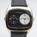 D&G TIME ドルチェ&ガッバーナ デュアルタイム クオーツ時計 ブラック メンズ レディース ユニセックス 【中古】