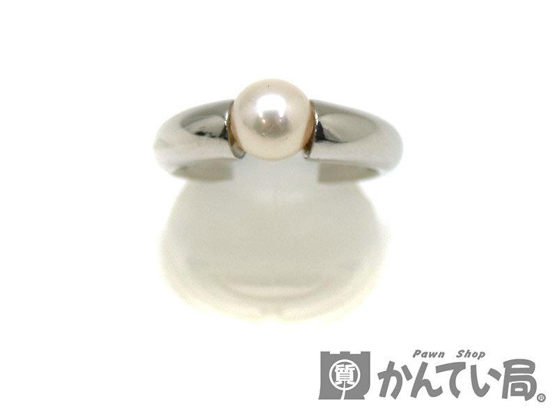 Pt900 プラチナ パール アコヤ真珠 ファッションリング 指輪 約12号 レディース ジュエリー アクセサリ 宝石 USED-SA【】 新品仕上げ済み かんてい局茜部店 a17-3494 『パール付リング』入荷致しました♪明るいです