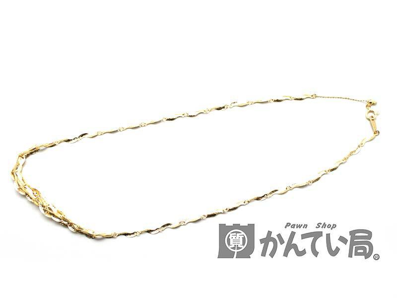 K18 デザインネックレス アクセサリー 約44.5cm 5.4g 【】 USED-A 質屋 かんてい局北名古屋店 n17-1293 デザインネックレスのご紹介です♪