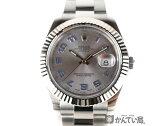 ROLEX ロレックス デイトジャスト2 SS×K18WG メンズ腕時計 116334 ランダムシリアル 自動巻き グレー文字盤【中古】 USED-A かんてい局小牧店 c16-6392
