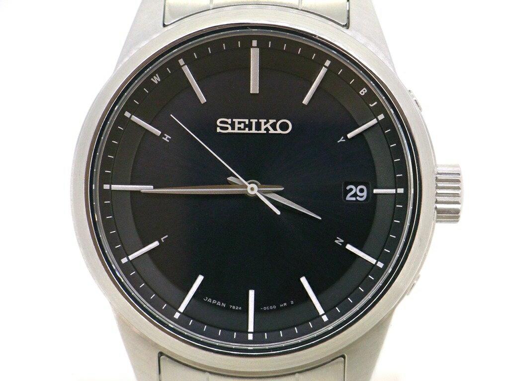 【SEIKO】セイコー ソーラー電波時計 スピリットスマート SPIRITSMART ブラック SBTM233 【中古品】USED-S かんてい局買取専門店 p296-381