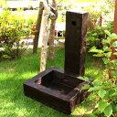 立水栓 カバー 水栓柱 アルミ 水栓柱カバー + 水受け のお買い得セット 庭 水道 カバー 枕木 かぶせるだけの工事不要商品 送料無料 05P01Oct16