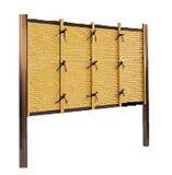 垣根や仕切垣・目隠し垣・袖垣など用途も多様。【ご好評により値下げ実現!】樹脂製(支柱はアルミ製)天然の竹垣に比べ耐久性も良くメンテナンスも簡単。竹垣 (人工竹垣) 目隠しフェンス