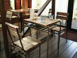 テーブルセット ヴィンテージ調 アンティークテーブルセット テーブル+チェア2脚のセット【送料無料】 532P17Sep16