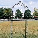 庭やアプローチの演出にフラワーアーチはいかがですか。重厚なアイアン製でお庭をグレードアップ!バラ等のつる性植物に最適なガーデンアーチ。 ガーデンアーチ タイプF 【送料無料】 05P03Dec16