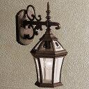 楽天DIY.ガーデン通販エクステリア関東玄関照明 外灯 ポーチライト LED ランプ 門灯 壁付け照明 センサーなし 節電対応 エクステリアライト 外灯 照明 アンティーク風 レトロ おしゃれ オールドスタイル玄関照明 外灯 ブラック×ブロンズ