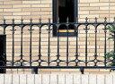 目隠しフェンス エレガントなフェンスで、レンガ・ブロック塀の外観を演出。鋳物フェンス 三協立山 ファンセル6型 H800支柱セット付 【送料...