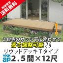 ウッドデッキ 樹脂 人工木 YKK リウッドデッキ200 Tタイプ 2.5間×12尺 4451mm×3620mm