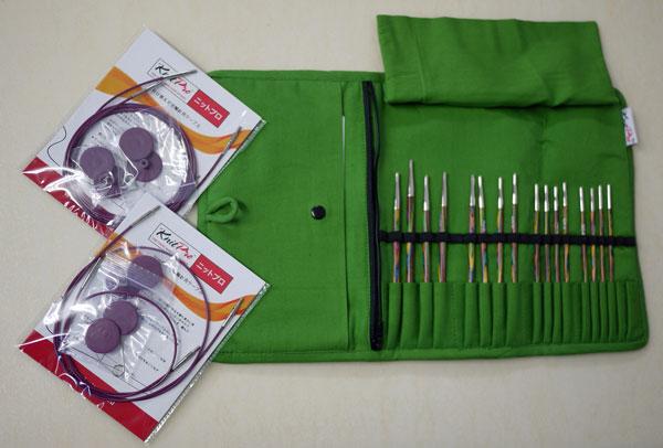 ☆ニットプロ 付け替え式 輪針 布製ケース入り コンパクトサイズ デラックスセット:エデン トレイル70456