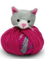 *DMCTOPTHIS!kitten動物(ネコ)のぬいぐるみ付き帽子用毛糸