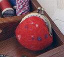 フェルト羊毛のがまぐち カラフルネップがまぐち(赤) H441-435 フェルト羊毛のがまぐちキット ハマナカ フェルト