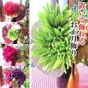 選べる 置いて飾れる お正月飾り 陶器製飾り器付き【薫る花】...