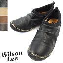 WILSON LEE SPORTS-ウィルソンリースポーツ- クシュっとしたデザインが可愛いカジュアルシューズ 3E幅広設計【別倉庫配送】