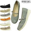REFRESH WALK-リフレッシュウォーク- 華奢脚魅せ効果の細め甲ストラップコンフォートパンプス。靴擦れを防ぐ低反発クッションのかかとパッド付き!レディース 3E 幅広設計 痛くない 歩きやすい