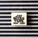 ゆめはんこ ラバースタンプ アルファベットシリーズ 「A」 Apple(りんご) 縦19mm×横23.5mm (0048A-2630)