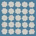 ショッピングランチボックス [お弁当箱包み]綿の風呂敷(ふろしき) コトイマ ハナトリ(青)50cm 風呂敷専門店・唐草屋