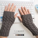 ハンドウォーマー ケーブル編み 手袋 グローブ エレガンス 暖かい 防寒 デスクワーク レイヤード 冬 レディース