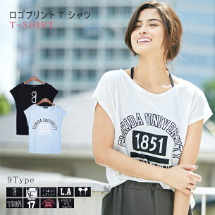 プリント Tシャツ カットソー カジュアル レディース