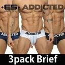 送料無料!ADDICTED (アディクティッド) ≪お得な3枚組セット≫ 3 PACK MESH BRIEF PUSH