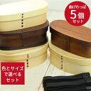 まげわっぱ 弁当箱 5つ まとめ買い 福袋 初売り 曲げわっ...