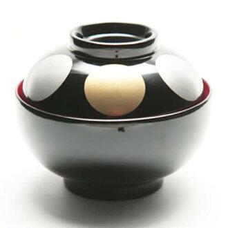 用蓋子、 新年雜湯、 新年雜湯,碗,為你的碗,碗米飯蛋糕湯、 年糕湯漆器,蓋子年糕湯 [月球圖片碗 > kurouchi 朱年糕湯碗蓋,年糕湯湯盆年糕湯年糕年糕碗年糕湯