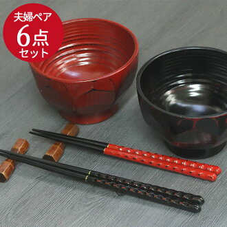 Wooden Bowl Zoni soup / couple chopsticks and chopstick (1) pair couple set Bowl / Zoni Bowl and chopsticks and chopsticks / set / wooden tableware and athletic /fs3gm