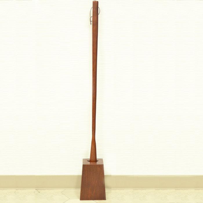 漆器かりん本舗 木製 靴べら ロング スタンド付き