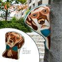 クッション 犬型 【ドギーコレクション】 レトリバー 刺繍 中材入り 犬グッズ 犬雑貨 アニマルクッション おしゃれ かわいい