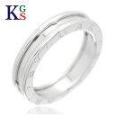 【ギフト品質】【SPECIAL梱包】【名入れ】【5号〜14号】ブルガリ/BVLGARI B.zero1 ビーゼロワン リング / 指輪 750 K18WG ホワイトゴールド レディース メンズ 誕生日