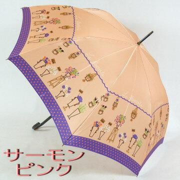 【レビューで送料無料!】レディース雨傘長:mimiPINSON(ミミ・パンソン)の「フラワーショップ」がおしゃれでかわいい雨傘長(ジャンプ傘