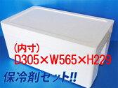 【運動会】【発泡スチロール 箱 容器】保冷剤セット!!発泡スチロールBOX(大)