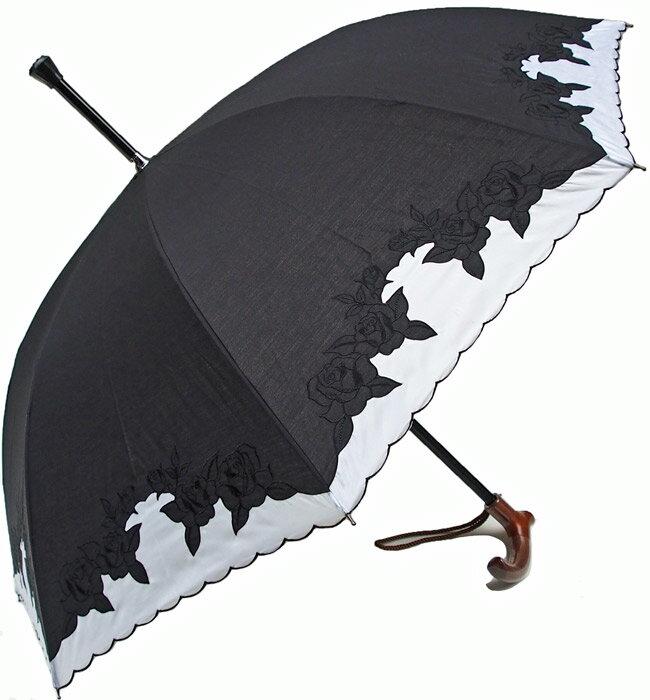 ★素敵なステッキ傘婦人杖傘【L】エルばらあど(ブ...の商品画像