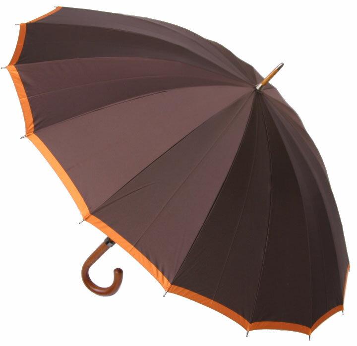 ■クラシカル16フォーメン (ビタースウィート・ブラウン)「皇室御用達」前原光榮商店 紳士雨傘お名前彫りなしは即納できますお名前彫り有の場合は11月22日(火)頃仕上予定) 皇室御用達の職人がつくる紳士傘誕生祝や退職祝にもお薦めです