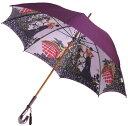 ◆お名前入OK御修理可◆【両面 ほぐし織】モンブラン婦人雨傘・長傘 『舞姫』パープル〜比類無き浪漫薫る傘