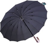 ◆Komiya7016◆LL70cm16本骨紳士傘(色:ピュアブラック)ファインデニール繊維ミラトーレ仕様とも生地外袋つき シンプルで洗練されたベーシックカラー ピュアブラック