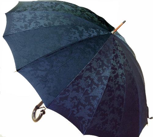 ■受注作成【所要約3カ月】Royal16 for MEN (ネイビー) たま留めつき楓ハンドル「皇室御用達」 前原光榮商店 紳士雨傘
