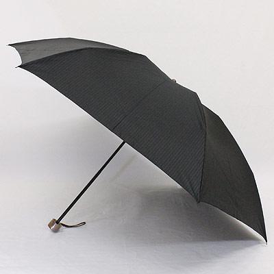 【父の日ラッピング無料~6/18まで】 【_包装】FRANCO FERRAROフランコ・フェラーロ「縞柄」紳士ポリエステル先染 メンズ丸ミニ雨傘【対応】 雨傘上質なスーツのような生地は、先染めの細かなストライプ。