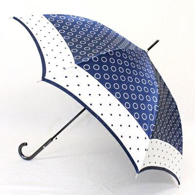 【_包装】FRANCO FERRAROフランコ・フェラーロ「リング&ドット」婦人用軽量雨傘ワンタッチ【対応】[fs02gm] 雨傘シンプルながら優しいアクセントの楽しめる雨傘