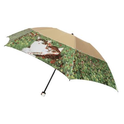 婦人用雨傘 マンハッタナーズ レディース「愛するものたち」ミニタイプ折畳傘 雨傘・折り畳み見ているだけで気持ちが静かに満たされていくような作品数量有限