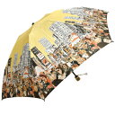 大人顔のユーモア溢れる傘マンハッタナーズBROADWAY OH BROADWAYレディース丸ミニ雨傘(折畳)【送無naniwa】【送無gentei】【送無mimashita】【soryo-1016】