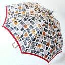 【楽ギフ_包装】稀少価値商品婦人雨傘マンハッタナーズ レディース「街角と猫たち」(ワンタッチ式) 【