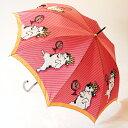 【プレゼントに最適】婦人雨傘マンハッタナーズ レディース「皇帝猫」プリント(ワンタッチ式)...