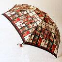 マンハッタナーズ レディース「ピカピカハートの街」雨傘(折りたたみ)