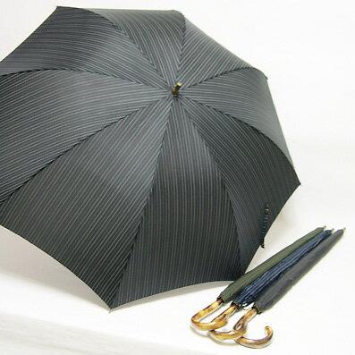 【父の日ラッピング無料~6/18まで】 【_包装】紳士雨傘手元から伸びる中棒部分までが葡萄で作られているという,こだわりのデザインです.メンズ葡萄手元木棒雨傘(手開き式) 雨傘【プレゼントに最適】