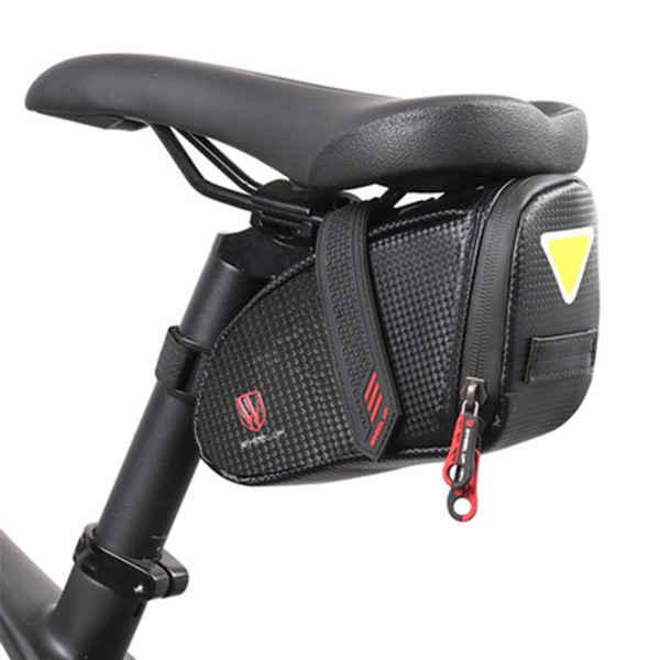自転車サドルバッグロードバイクマウンテンバイク自転車バッグ反射テープテールライトハンガー大容量収納簡