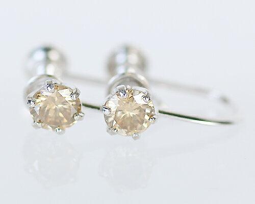 K18/WG/PG 0.4ct ブラウンダイヤモンドイヤリング 肌に馴染む、類稀な輝きを放つファンシーブラウン!DIAMOND ダイヤ イヤリング 耳飾り earing 装身具 18金【暖かい】